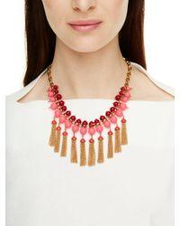 kate spade new york - Metallic That's A Wrap Tassel Necklace - Lyst