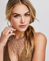 Kendra Scott - Metallic Georgina Statement Necklace In Rose Gold - Lyst