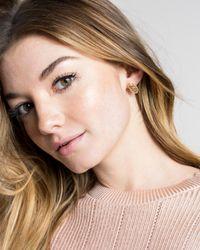 Kendra Scott - Metallic Ellie Gold Stud Earrings In Rose Gold Filigree Mix - Lyst