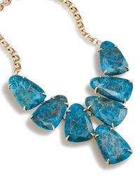 Kendra Scott - Blue Harlow Statement Necklace In Aqua Apatite - Lyst