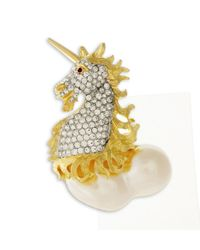Kenneth Jay Lane | Metallic Unicorn Brooch | Lyst