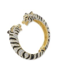 Kenneth Jay Lane | Black And Crystal Tiger Bracelet | Lyst