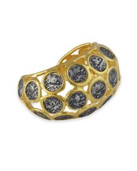 Kenneth Jay Lane | Metallic Gold With Silver Coins Bracelet | Lyst