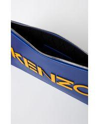 KENZO | Blue Colourblock Pouch | Lyst