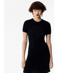 KENZO Black Knitted Tiger Dress