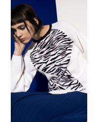 KENZO | White Tiger Stripes Knit Sweater | Lyst