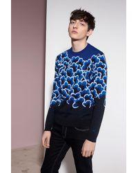 KENZO | Blue Popcorn Sweater for Men | Lyst