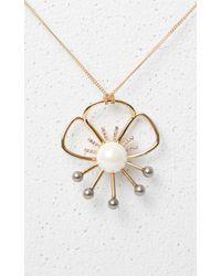 KENZO | Metallic Flower Necklace | Lyst