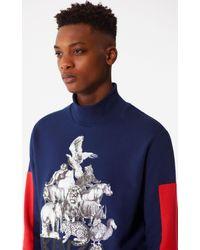 KENZO - Blue 'animals' Sweatshirt for Men - Lyst