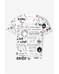 KENZO | White You Are My Rainbow' T-shirt for Men | Lyst