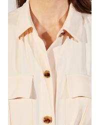 Khaite - Natural Leilani Tie Waist Button Down Crepe Dress - Lyst