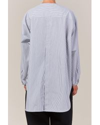 Studio Nicholson Gray Collarless Shirt Triple Grey