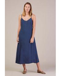 739fd4ec4f02 Lyst - Jesse Kamm Slip Dress in Blue