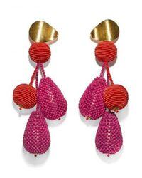 Lizzie Fortunato - Red Meteor Earrings - Lyst