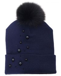 House of Lafayette | Blue Milou Pearl Beanie | Lyst