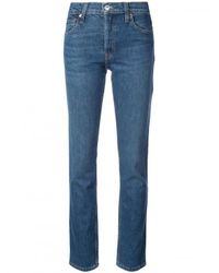 Re/done - Blue The Crawford High-rise Straight-leg Jeans - Lyst