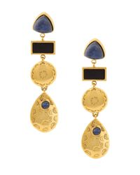 Lizzie Fortunato | Black Concho Column Earring | Lyst