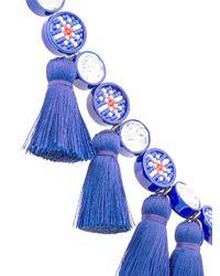 Shourouk - Sautoir Tassel Necklace - Blue - Lyst