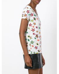 Saint Laurent - Multicolor Star Tee - Lyst