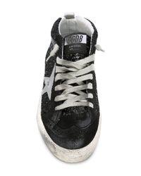 Golden Goose Deluxe Brand - Black Midi Glitter Sneakers for Men - Lyst