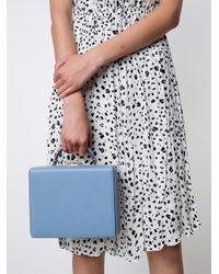 Mark Cross - Blue Pebbled Large Grace Box - Lyst