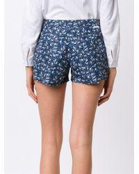 Thorsun - Blue Bird Print Board Shorts - Lyst