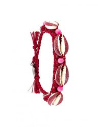 Venessa Arizaga | Shell We Dance Bracelet - Red | Lyst