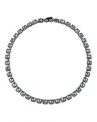 Larkspur & Hawk - Metallic Bella Small Riviere Necklace - Lyst