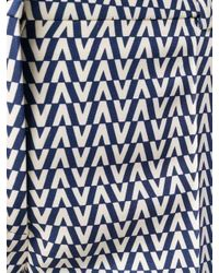 Kirna Zabete Blue Optical V Print Pants