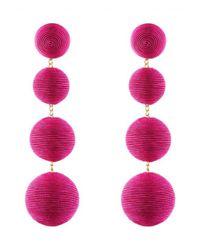 Rebecca de Ravenel - Pink Les Bonbons Fuchsia Earrings - Lyst