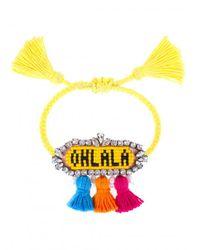 Shourouk - Yellow 'ohlala' Bracelet - Lyst