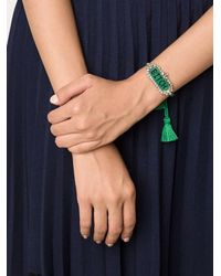 Shourouk - Green 'bitch' Beaded Bracelet - Lyst