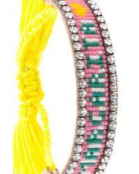 Shourouk - Multicolor Margarita Tassel Bracelet - Lyst