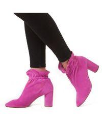KG by Kurt Geiger - Pink 'raglan' High Heel Ankle Boots - Lyst