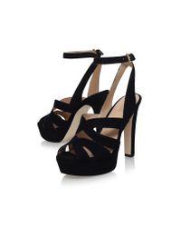 MICHAEL Michael Kors - Black Winona Ankle Strap - Lyst