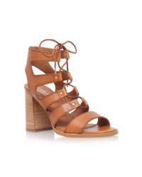 Carvela Kurt Geiger | Brown Kandice High Heel Lace Up Sandals | Lyst