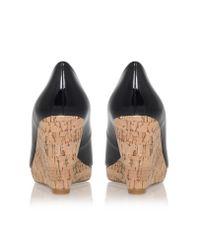 Carvela Kurt Geiger | Black Stellar Wedge Heel Peep Toe Court Shoes | Lyst