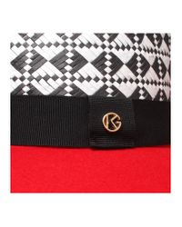 Kurt Geiger - Red Wide Brim Hat - Lyst