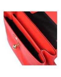 Kurt Geiger - Leather Cle Keyhole Bag In Orange - Lyst