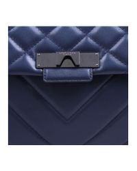 Kurt Geiger - Blue Leather Mayfair Bag - Lyst