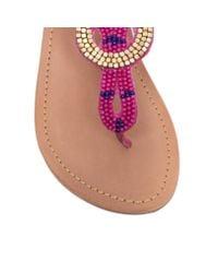 Carvela Kurt Geiger - Purple Kouros Flat Toe Post Sandals - Lyst