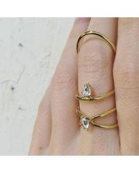 Lady Grey - Metallic Crystal Infinity Ring In Gold With Swarovski Crystal - Lyst
