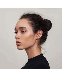 Lady Grey | Metallic Double Pearled Ear Cuff In Gold | Lyst