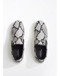 Junya Watanabe - Natural Steer Python Print Slip On Sneakers - Lyst