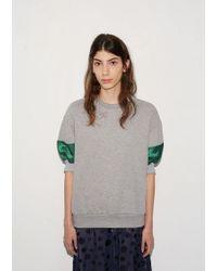 Kolor - Gray Cuff Sweatshirt Top - Lyst