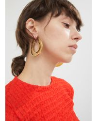 Marni - Metallic Monile Leverback Hoop Earrings - Lyst