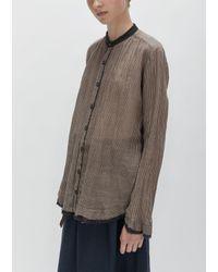 Pas De Calais   Brown Cotton Stripe Blouse   Lyst