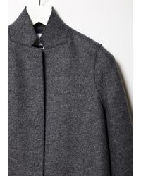 Harris Wharf London - Gray Cocoon Coat - Lyst