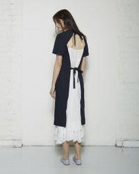 Comme des Garçons - Blue Apron Dress - Lyst