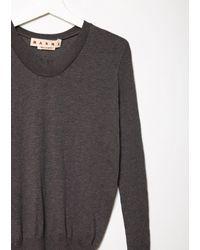 Marni - Multicolor U-neck Cotton Sweater - Lyst
